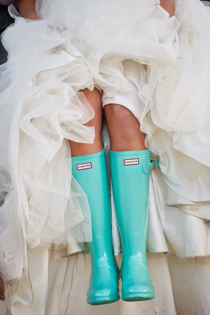 Blue Hunter Boots