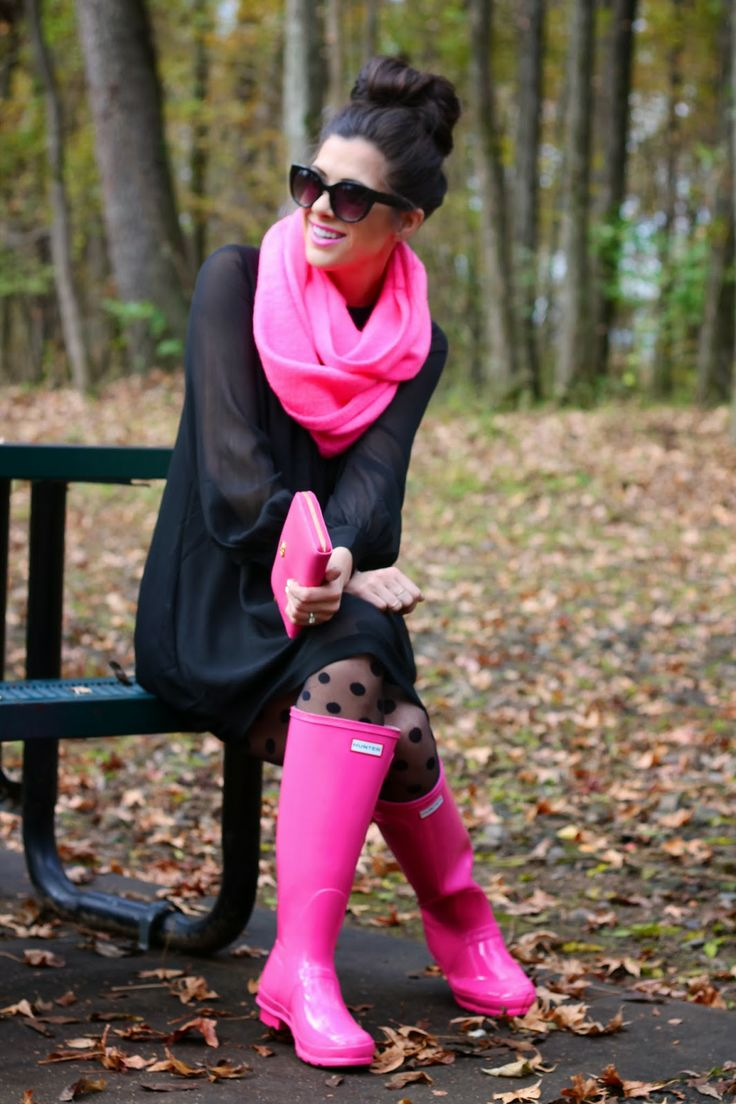 Bright Pink Hunter Boots