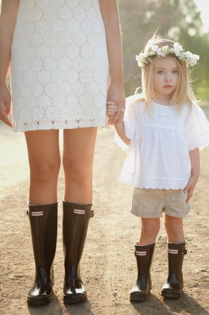 Hunter Boots Mother and Daughter