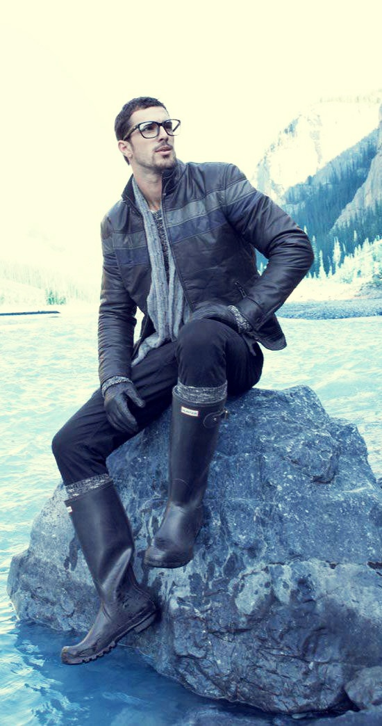 Hunter Boots for men black