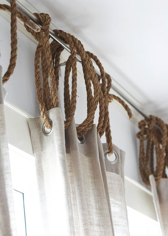 Rope as Curtain Ring