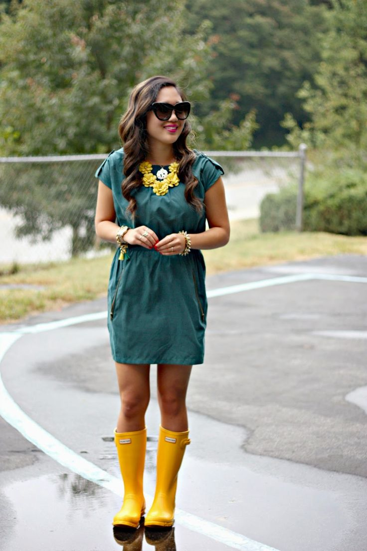 Yellow Hunter Boots 2