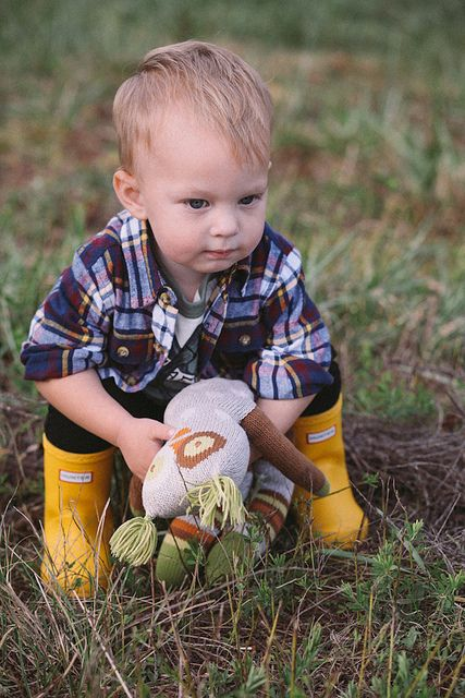 Yellow Hunter Boots for boys